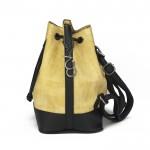 Sarı Büzgülü Bucket Omuz Askılı Çanta