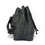 Siyah Büzgülü Bucket Çanta
