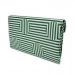 Siyah Yeşil Çizgili Retro Cloutch El Çantası
