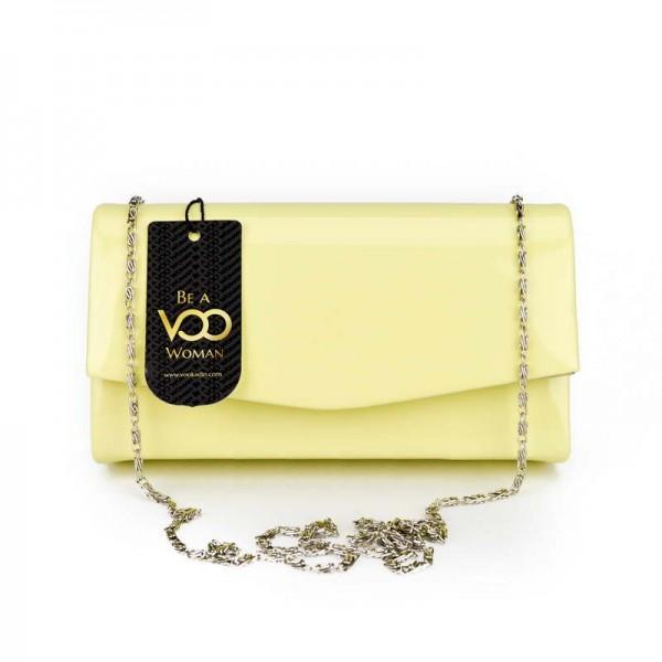Sarı Rugan Mini El çantası