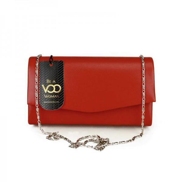 Kırmızı Süet Mini El çantası
